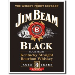 Placa metalica - Jim Beam - Black Label - 30x40 cm