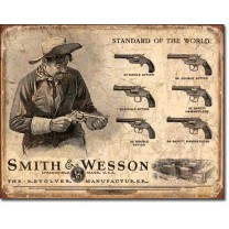 Placa metalica - Smith and Wesson - 30x40 cm