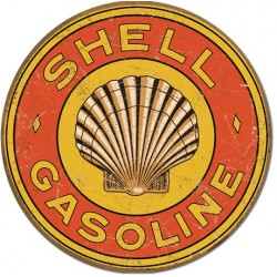 Placa metalica - Shell Gasoline 1920 - Ø30cm