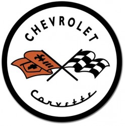Placa metalica - Chevrolet Corvette - Ø30cm