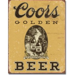 Placa metalica - Coors Golden Beer - 30x40 cm