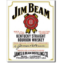 Placa metalica - Jim Beam - 30x40 cm