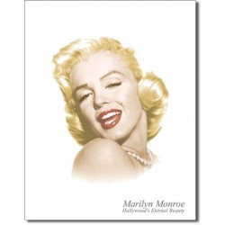 Placa metalica - Marilyn Monroe - Eternal Beauty - 30x40 cm