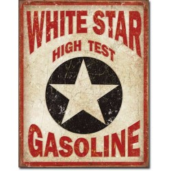Placa metalica - White Star Gasoline - 30x40 cm