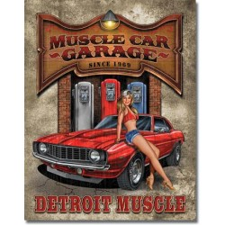 Placa metalica - Legends - Muscle Car Garage - 30x40 cm