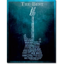 Placa metalica - The Best - Guitarists - 30x40 cm