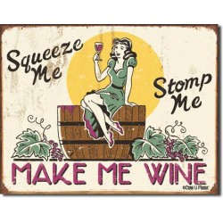 Placa metalica - Make Me Wine - 30x40 cm