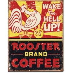Placa metalica - Rooster Brand Coffee - 30x40 cm