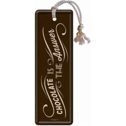 Semn de carte - Chocolate Is The Answer