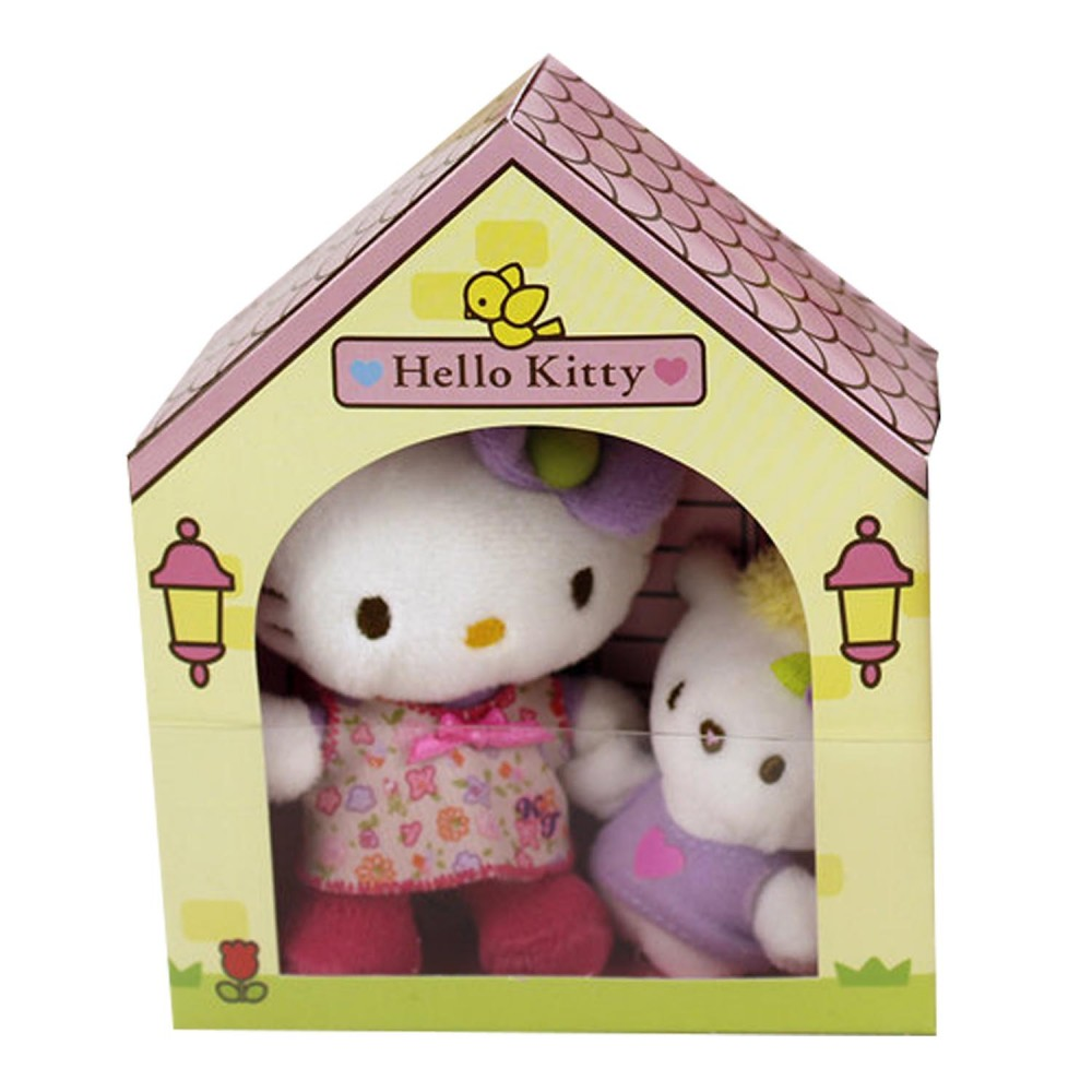 Plus Hello Kitty in casuta - Yellow