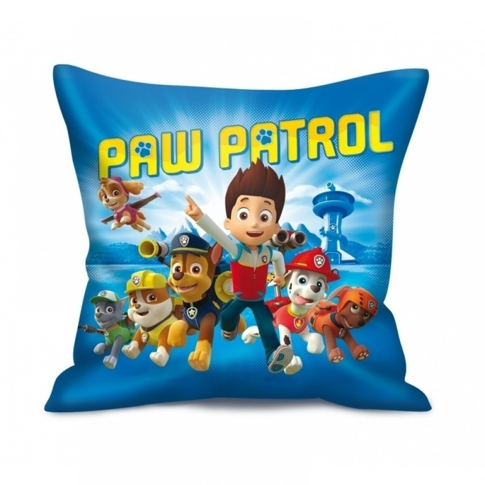 perna paw patrol 35x35 cm albastru. Black Bedroom Furniture Sets. Home Design Ideas