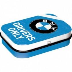 Cutie metalica cu bomboane - BMW Drivers Only Blue