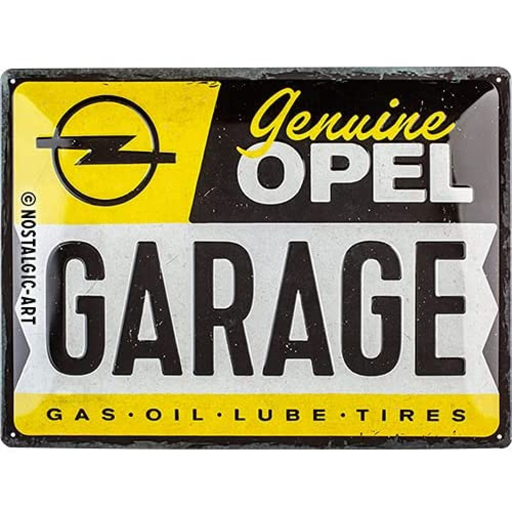 Placa metalica Opel - Garage 30x40cm