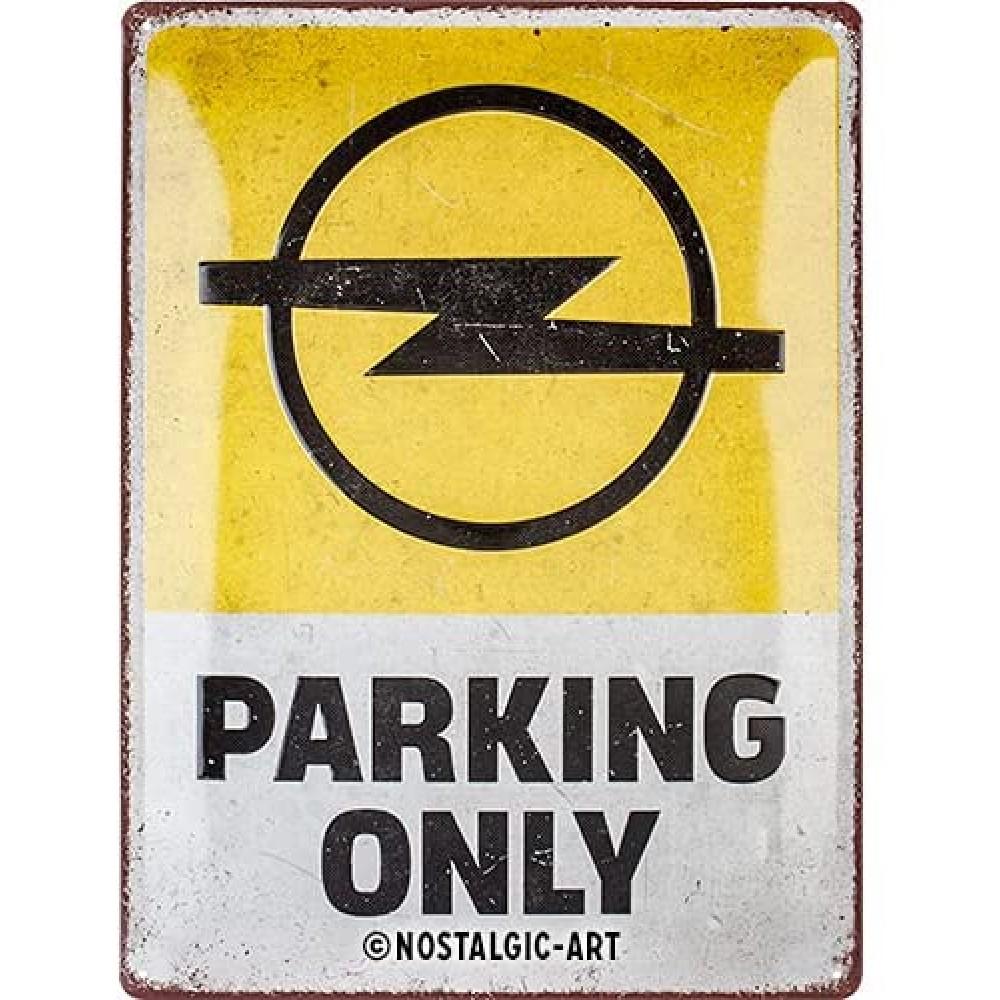 Placa metalica Opel - Parking Only 30x40cm