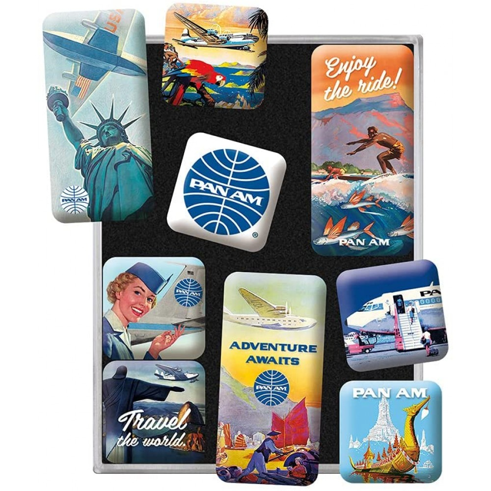 Set 9 magneti Pan Am - Travel The World Posters
