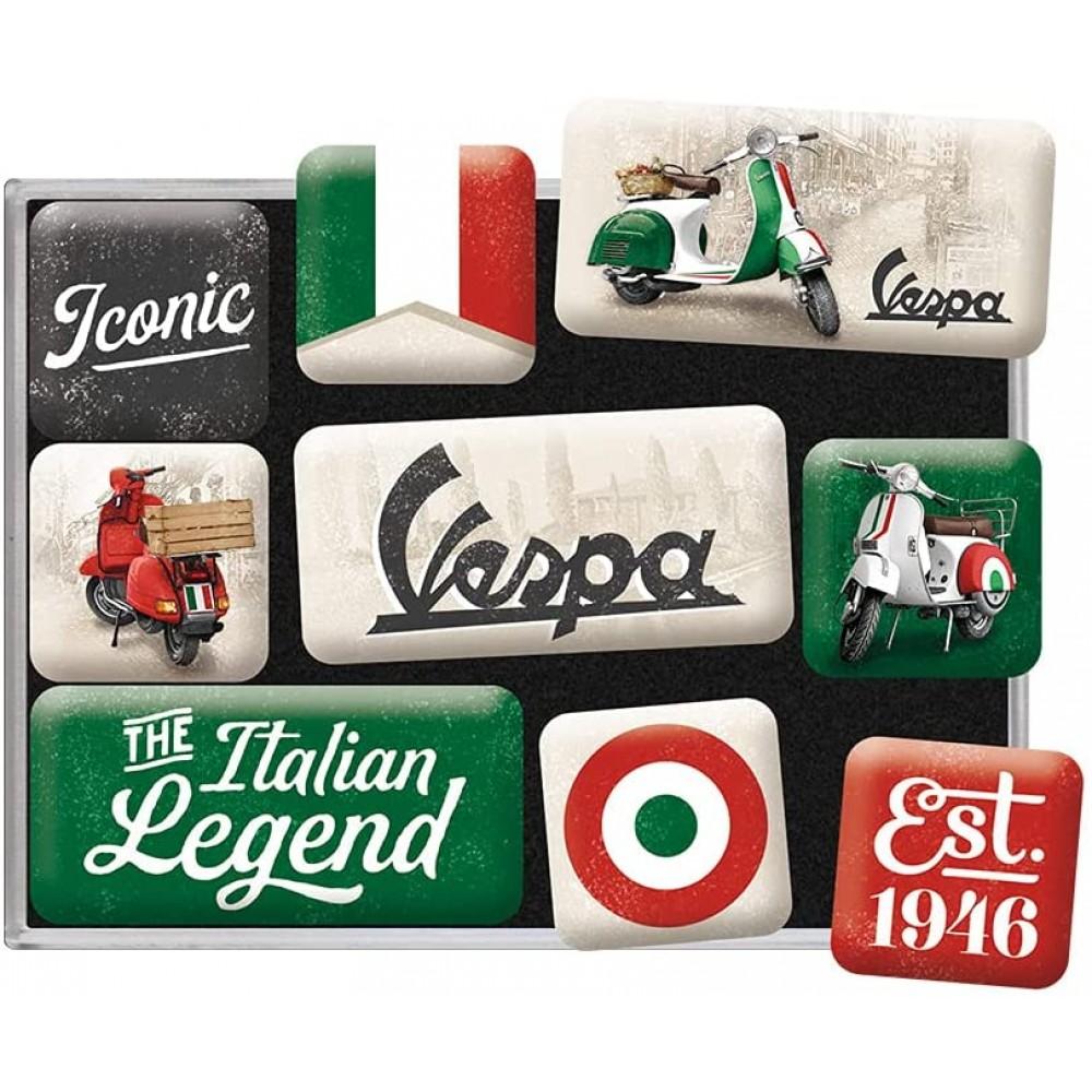 Set 9 magneti Vespa - The Italian Legend
