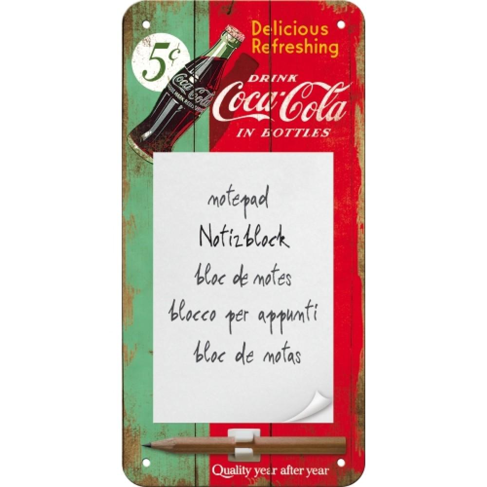 Blocnotes magnetic - Coca Cola Green