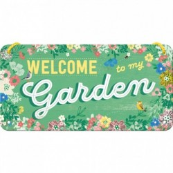 Placa metalica cu snur - Garden - 10x20 cm