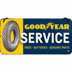 Placa metalica cu snur - GoodYear Service -  10x20 cm