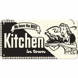 Placa metalica cu snur - Kitchen - 10x20 cm