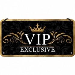 Placa metalica cu snur - VIP - 10x20 cm