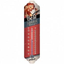 Termometru metalic - Best Garage - Red